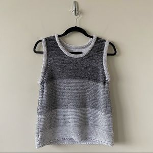 7 For All Mankind-Ombré Medium Weight Knit Top